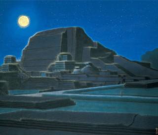 平山郁夫筆「大唐西域壁画」より「ナーランダの月・インド」