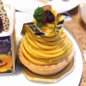 五色豆とかぼちゃのモンブラン01@ARDEUR_2014年10月