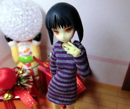 26_12_21 長袖ワンピ(紫×灰)