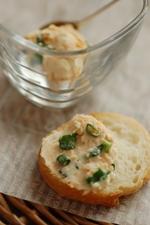 万能ねぎと鮭フレーク&クリームチーズ