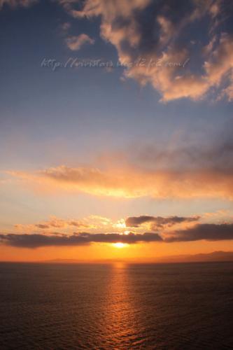 戸田からの夕陽01