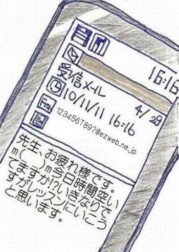 携帯メールの画面