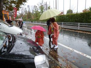 この雨です