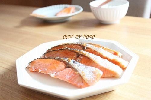 朝ごはんは美味しい秋鮭。。