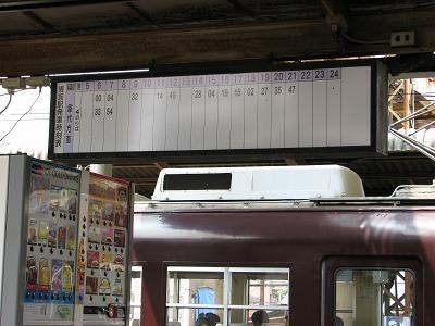 屋代線時刻表@須坂駅