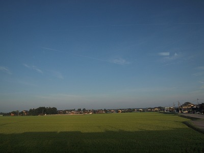 田園風景を快走