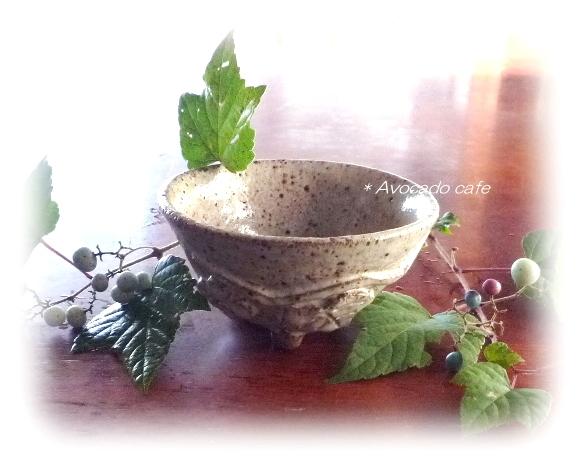 ノブドウ柄茶碗