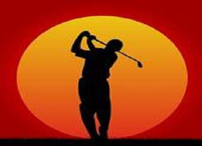 ゴルフ夕日1