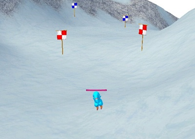 スキー 旗