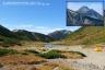 笠ヶ岳と双六池