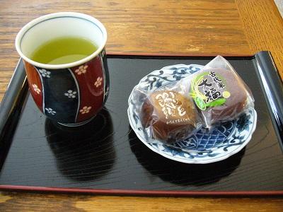 お茶とおまんじゅう