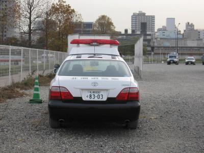北海道警察パトカー後