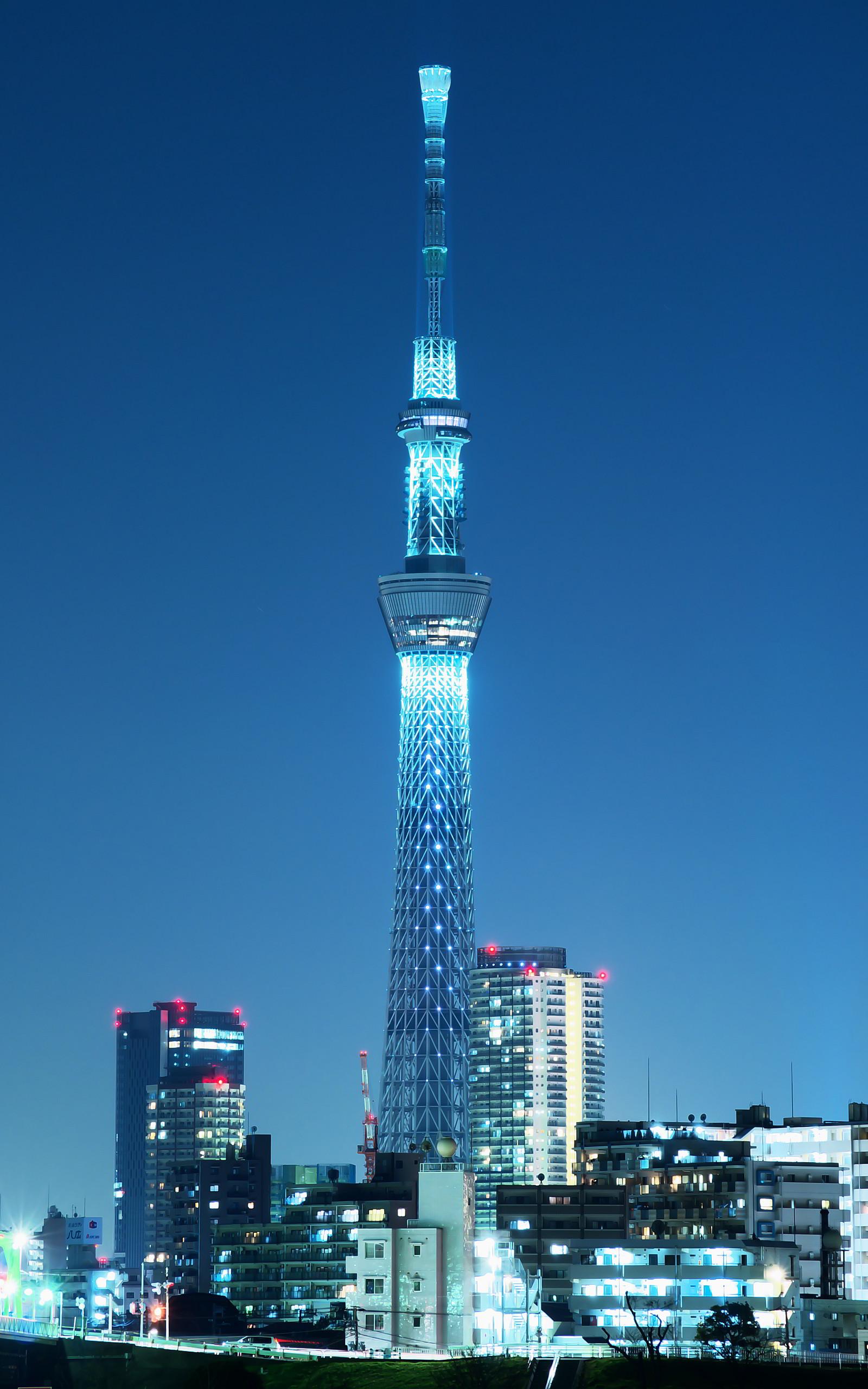 好き勝手に 壁紙 照明点灯 東京スカイツリー 1600x2560