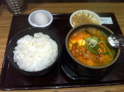 豆腐鍋スンドゥブ20120609