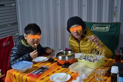 201311ガレージ夕食1
