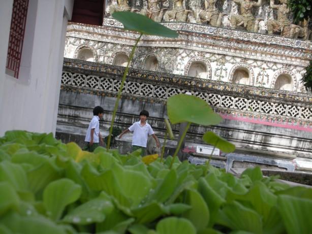 バンコクのお寺で・・