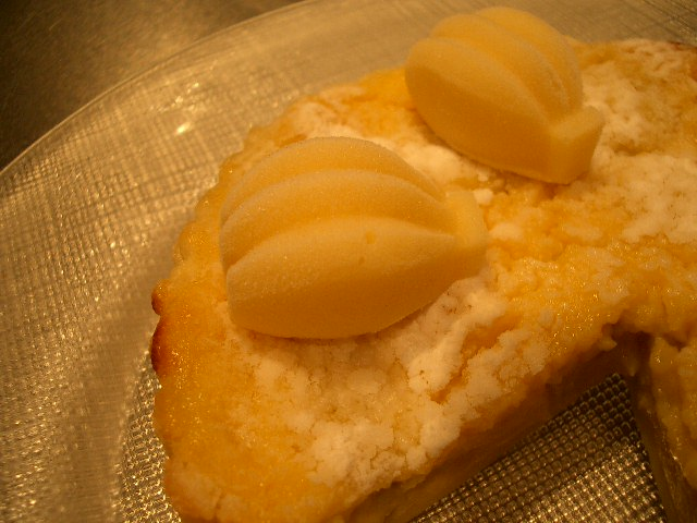 バナナのクリームタルト