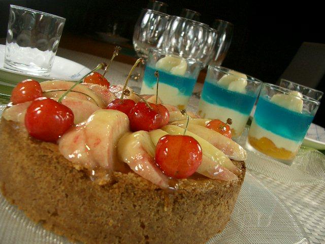 フルーツのようなチーズケーキ
