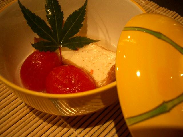 厚揚げとトマト