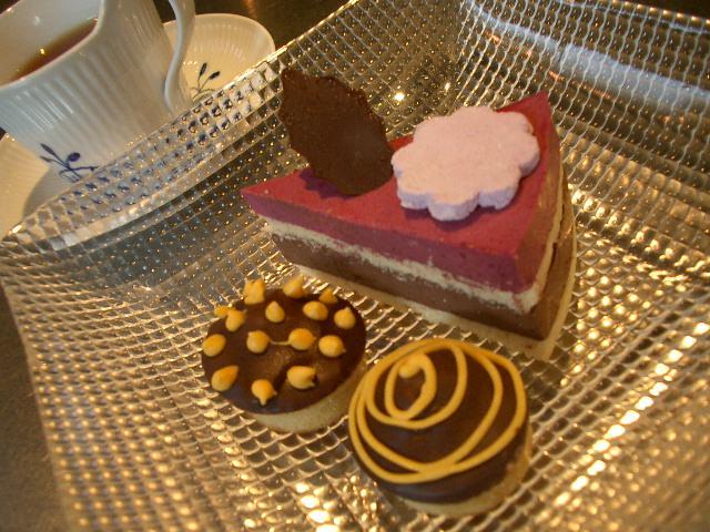 レッスン終了~試食のケーキ