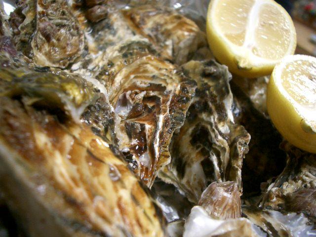 殻つきの牡蠣