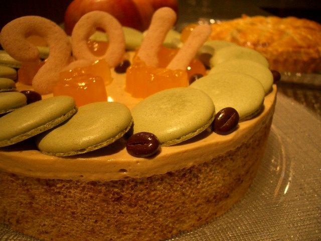 カフェ・ラテのケーキ