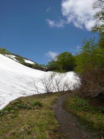 100606銀明水上雪渓