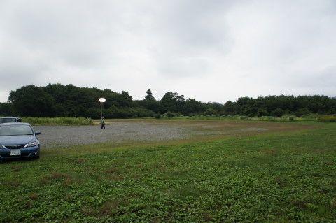 山中湖報湖祭 臨時駐車場