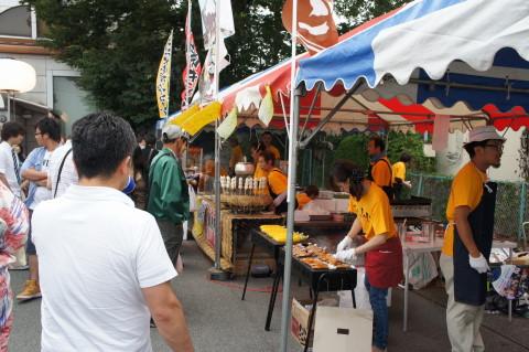 山中湖報湖祭 出店