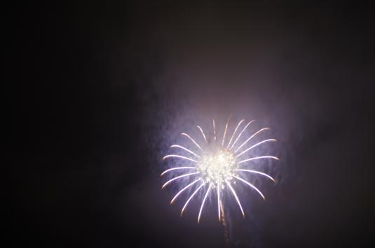 山中湖報湖祭 花火