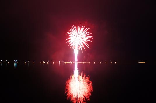 西湖竜宮祭 花火 かめはめは