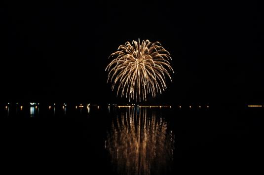 西湖竜宮祭 花火 しだれ