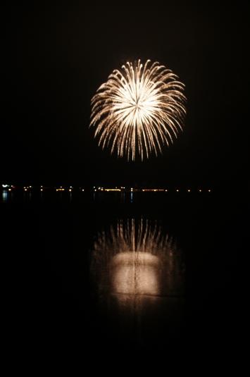西湖竜宮祭 花火