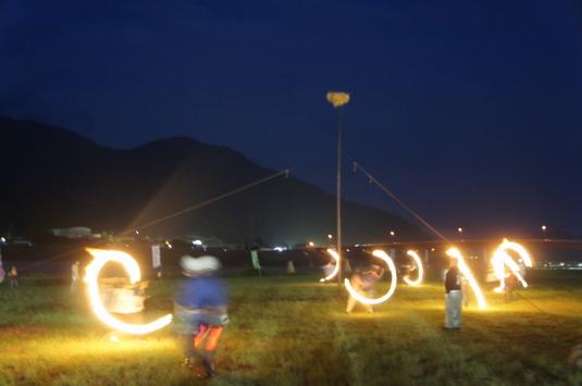 南部の火祭り 投げ松明