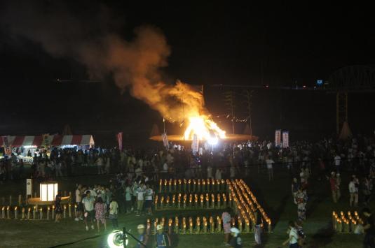 南部の火祭り 大松明