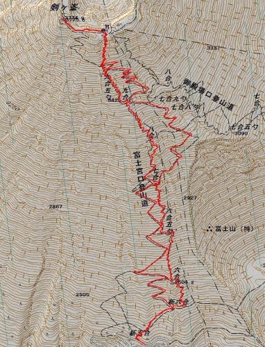 141002 富士山軌跡