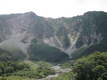 元谷からの大山北壁100803