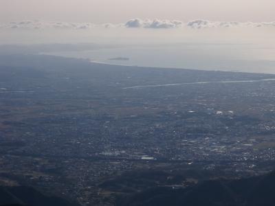 大山からの相模湾101223
