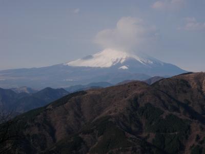 大山山頂からの富士101223