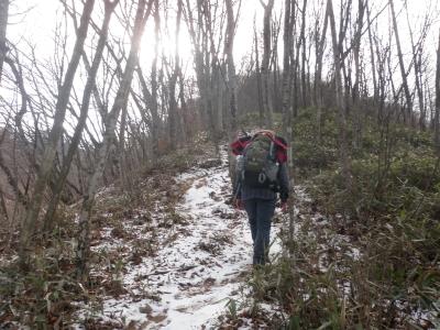 鶴ケ鳥屋山登り110129