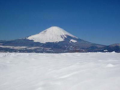 足柄峠から望む雄大な富士山