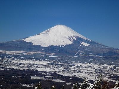 足柄峠から望む秀麗なる富士山