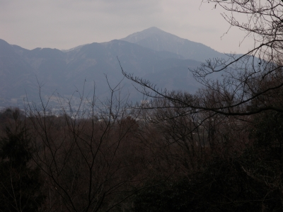 頭高山周遊路から大山110214