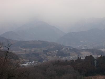 大山が雪で見えない110214