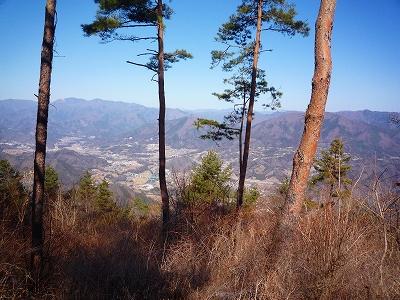 倉岳山北側の眺め