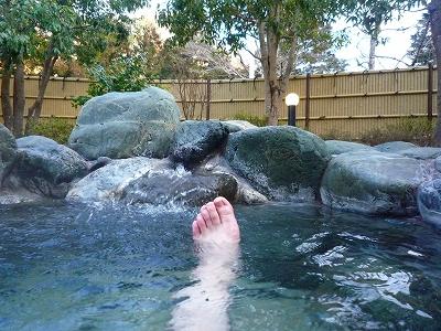 秋山温泉の露天風呂