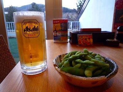 とりあえず麦酒と枝豆で「乾杯!」