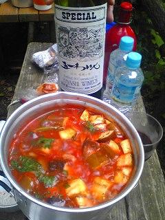 特製夏野菜たっぷりトマトスープ