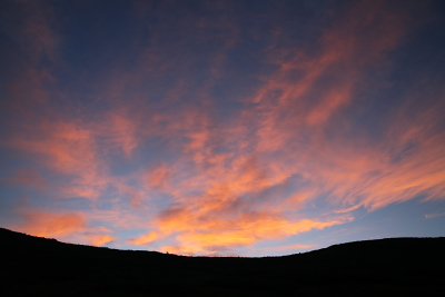 雲ノ平の朝焼け