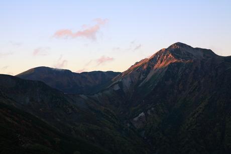 鷲羽岳夕景